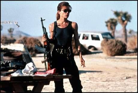 """Linda Hamilton como Sarah Connor en """"Terminator""""."""