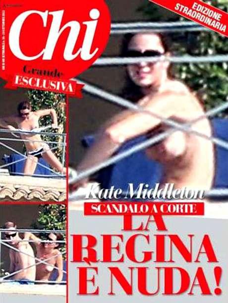 La revista italiana 'Chi' dedica un amplio reportaje al topless de Catalina de Cambridge