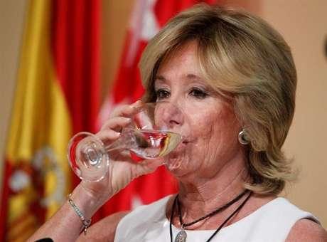 Esperanza Aguirre, tras anunciar su dimisión