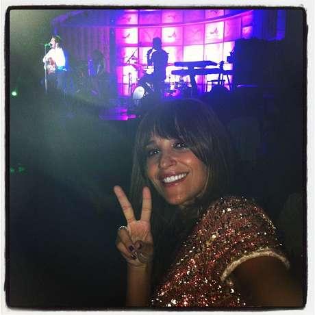 Paula Echevarría publicó en Instagram una fotografía en la que se le podía ver disfrutar del concierto que ofreció su marido, David Bustamante, en el Casino de Torrelodones.