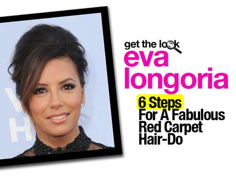 Eva Longoria was one of the best dressed ladies at the 2012 Alma Awards. Her outfit was amazing but what made that ensemble work was the hair bun. Stylist Marcos Carrasquillo has recreated the hair-do and has given us the tips on how to achieve it in 6 easy steps.