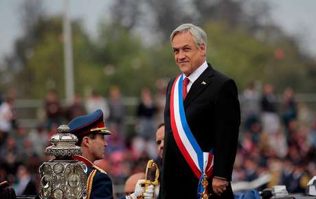 Imagen del Presidente Sebastián Piñera durante la Parada Militar