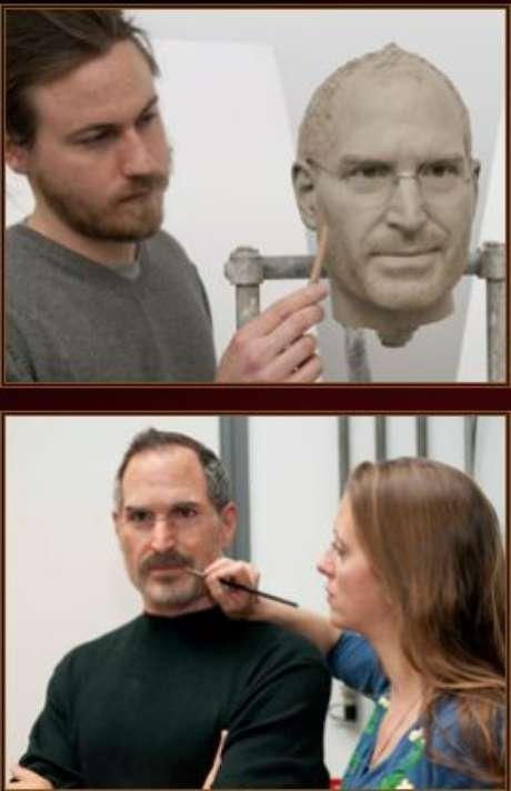 Escultura de cera de Steve Jobs