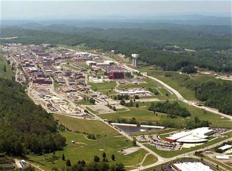 An aerial view of the Y-12 Plant in Oak Ridge, Tennessee is pictured in this U.S. government handout photo, received by Reuters August 3, 2012.