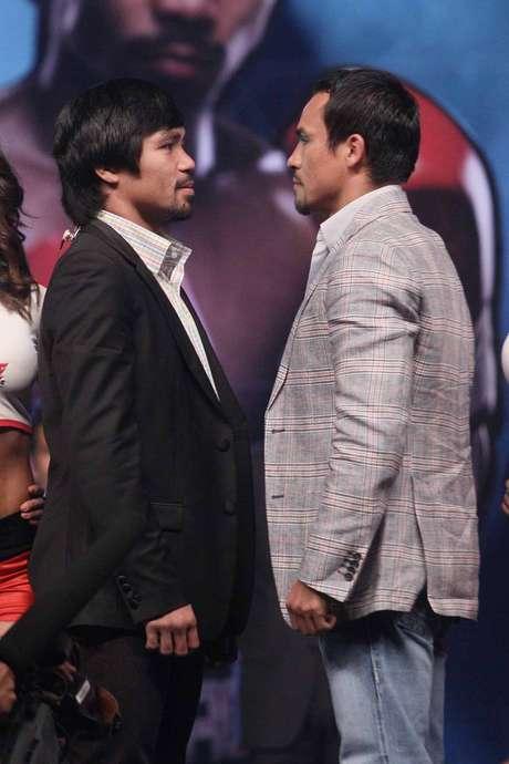 Manny Pacquiao y Juan Manuel Márquez presentaron su cuarto y último combate en la Arena Ciudad de México a realizarse el 8 de diciembre en Las Vegas