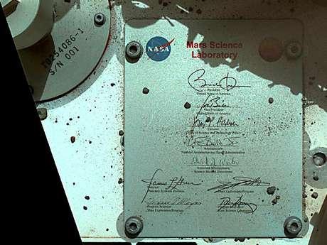La firma de Obama ya está en Marte gracias al Curiosity de la NASA.