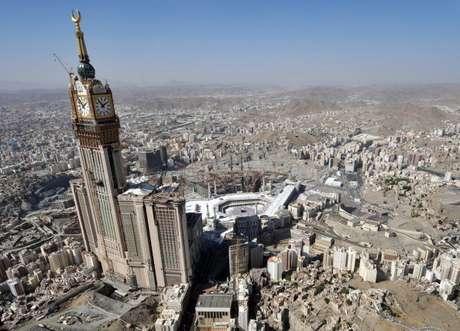 O maior relógio do mundo está em Meca, na Arábia Saudita
