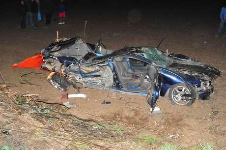 El vehículo quedó totalmente destruido tras desbarrancar en la ruta G 78, kilómetro 44, Melipilla