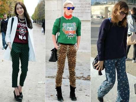 As calças estampadas são sensação entre público da Paris fashion week