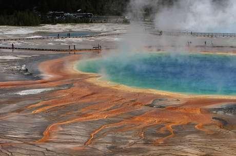O Parque Nacional de Yellowstone abriga algumas das principais belezas naturais dos Estados Unidos