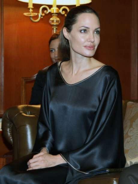 Angelina Jolie en su último viaje a Turquía como Embajadora de Unicef. En esta visita oficial saltaron las alarmas de su débil estado de salud.
