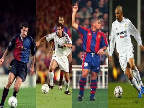 Luis Figo y Ronaldo son los jugadores de la época 'moderna' que vistieron las dos camisetas.