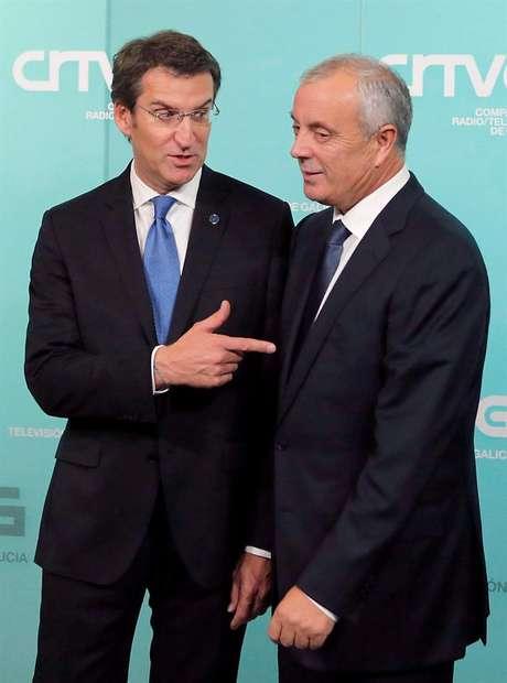 Feijóo y Vázquez, tras el primer debate electoral de la historia de Galicia