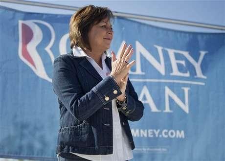 Susana Martínez durante el acto de campaña de este sábado de Romney en Las Vegas.