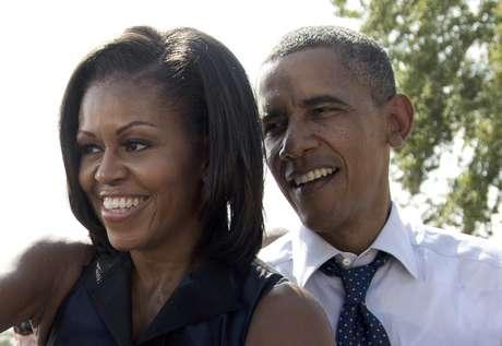 Foto del 7 de septiembre del 2012 del presidente Barack Obama y su esposa Michelle en Portsmouth, Nueva Hampshire.