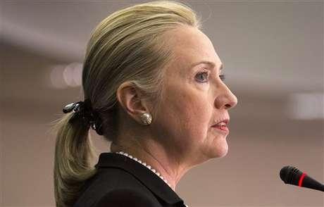 Hillary Clinton habló en Perú sobre el ataque a la embajada de EEUU en Libia.