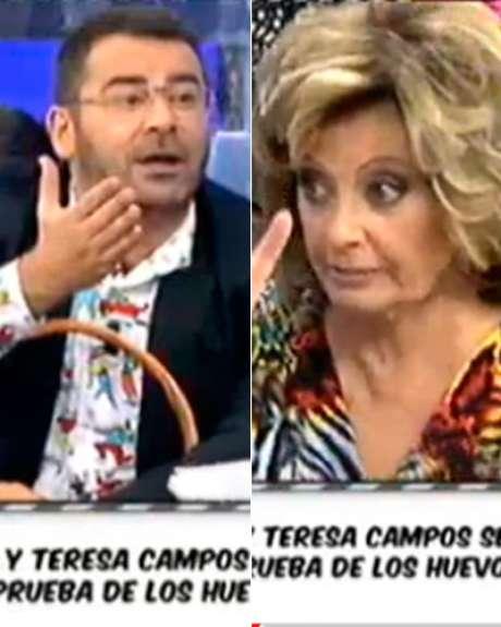 Jorge Javier Vázquez y María Teresa Campos durante la discusión este miércoles en 'Sálvame'.