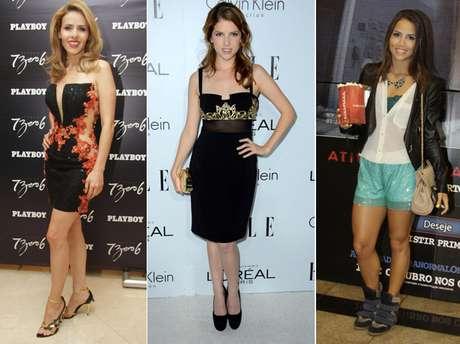 Leona Cavalli, Anna Kendricks e Pérola Faria foram algumas das celebridades que apostaram no brilho