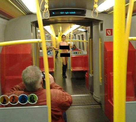 La Venus de Viena, fotografiada por un pasajero.