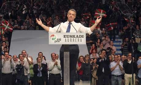 Íñigo Urkullu, durante la campaña electoral