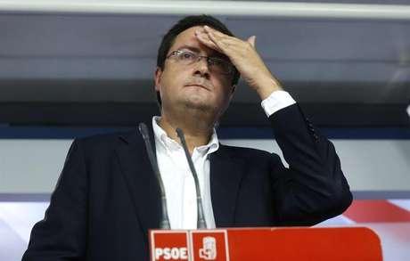 Óscar López, durante su comparecencia tras las elecciones