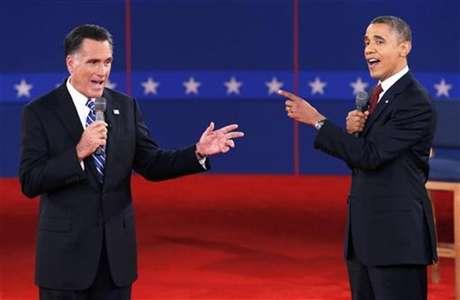 Romney y Obama, en uno de los debates electorales