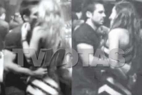 Ariadne Díaz y José Ron se dan de besos fuera de telenovela