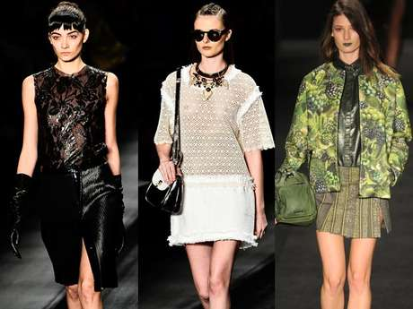 Looks de inverno 2013 do São Paulo Fashion Week contaram com a leveza das saias apresentadas; veja as melhores imagens das peças apresentadas no primeiro dia de desfiles no Parque Villa-Lobos