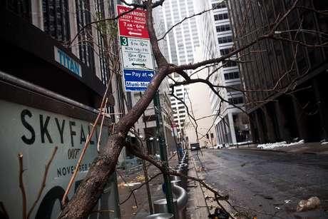 Nueva York despertó el martes como una ciudad desolada, tras la pesadilla de Sandy.