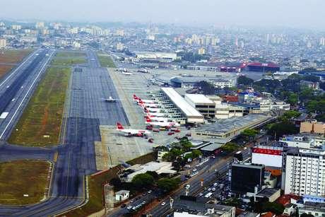 Vista aérea do Aeroporto de Congonhas