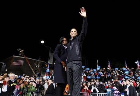 Presidente dos Estados Unidos Barack Obama encerrou sua campanha à reeleição em Des Moines, Iowa. 05/11/2012.