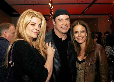 Kirstie Alley con John Travolta y Kelly Preston