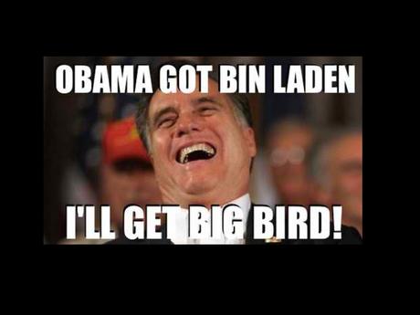 Y otros más sarcásticos como Obama asesinó a Bin Laden, yo me encargaré de Big Bird o Big Bird es parte del 47% y A mí me gusta Big Bird, yo no puedo mentir, circularon a las redes.