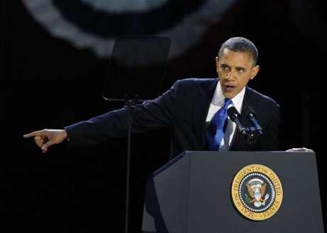 Reeleito, Barack Obama terá que lidar com uma Câmara dos Deputados controlada pelo Partido Republicano. 06/11/2012.