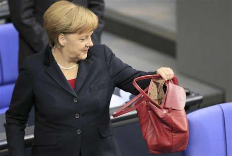 German Chancellor Angela Merkel arrives for a session of the lower house of parliament Bundestag in Berlin November 9, 2012.