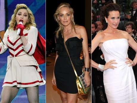 Maddona, Sharon Stone e Andie MacDowell são mulheres desejadas com mais de 50 anos