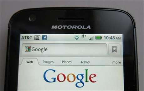 A Motorola Droid phone is seen displaying the Google search page in New York August 15, 2011.