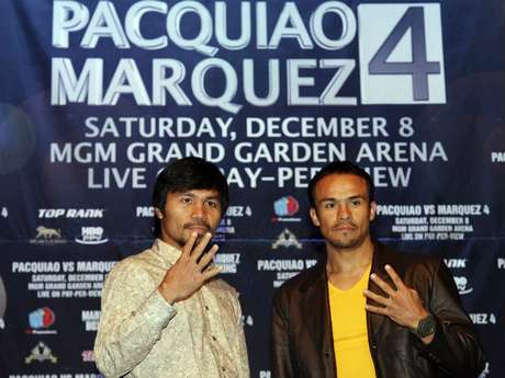 Pacquiao y Márquez pelearán el próximo 8 de diciembre.