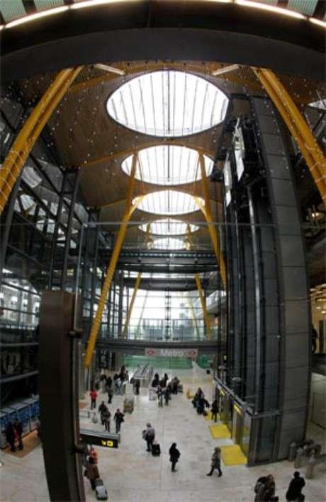 Vista general de la T 4 del aeropuerto de Madrid-Barajas