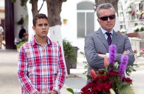 José Ortega Cano y su hijo José Fernando.