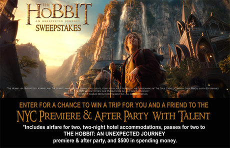 Win a trip to The Hobbit premiere and after party.