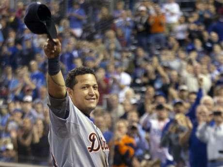 """El venezolano Miguel Cabrera, tercera base de los Detroit Tigers, fue ganador de la Triple Corona de Bateo y es el segundo año que Detroit tiene al pelotero Más Valioso del """"nuevo"""" circuito tras haberlo ganado el lanzador Justin Verlander en 2011."""