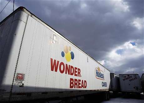 A Wonder Bread delivery truck trailer is seen parked outside the bakery plant in New York January 21, 2011.