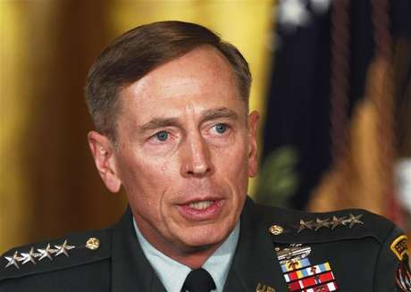 Then U.S. Army Gen. David Petraeus talks at an event in the East Room of the White House in this April 28, 2011 file photo during U.S. President Barack Obama's announcement that then CIA Director Leon Panetta would be nominated as Secretary of Defense.