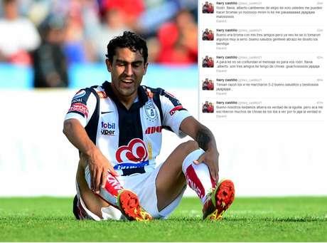 Nery Castillo utilizó su cuenta de Twitter para burlarse de la derrota de Chivas.