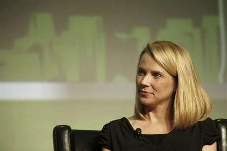 Yahoo! Chief Executive Marissa Mayer listens in a Startup Battlefield session during TechCrunch Disrupt SF 2012 at the San Francisco Design Center Concourse in San Francisco, California September 12, 2012.