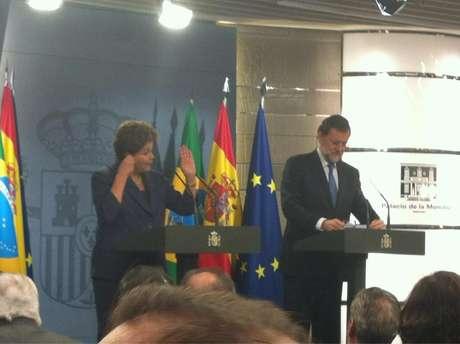 Dilma Rousseff y Mariano Rajoy, durante su comparecencia