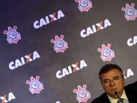 Presidente do Corinthians, Mário Gobbi participa de lançamento de camiseta com novo patrocinador
