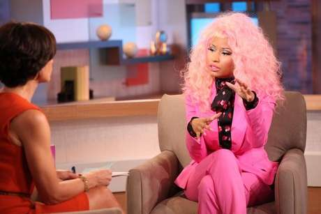 Nicki Minaj on the set of GMA on November 20, 2012