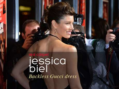 "Jessica Biel was ravishing at the ""Hitchcock"" premiere in Beverly Hills."